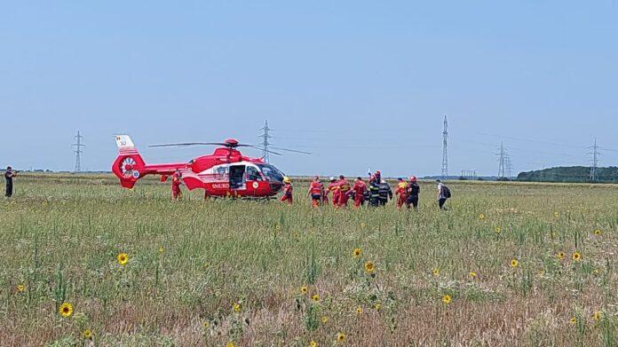 Un avion de mici dimensiuni s-a prabusit langa Bucuresti, in Chitila