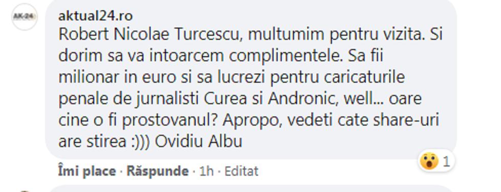 Comentariul aktual24 pentru Robert Turcescu
